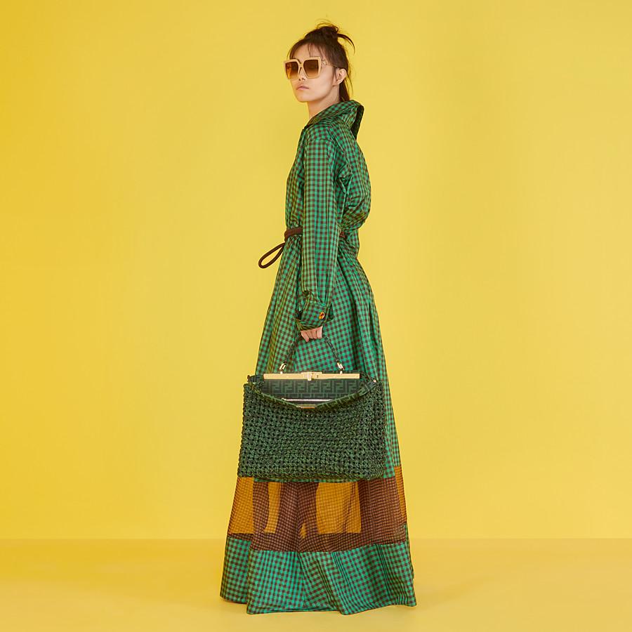 FENDI PEEKABOO ICONIC LARGE - Jacquard fabric interlace bag - view 2 detail