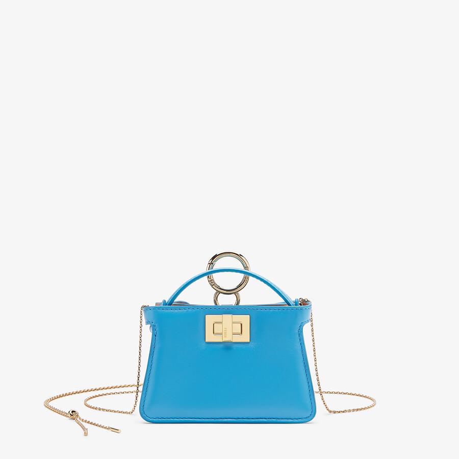 FENDI NANO PEEKABOO CHARM - Light blue nappa leather charm - view 1 detail