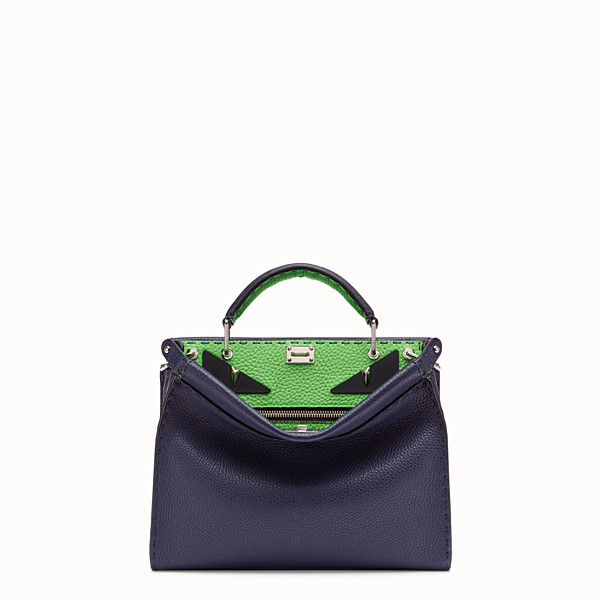 FENDI MINI PEEKABOO FIT - Blue Romano leather bag - view 1 small thumbnail