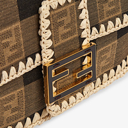 FENDI BAGUETTE - Brown fabric bag - view 6 thumbnail