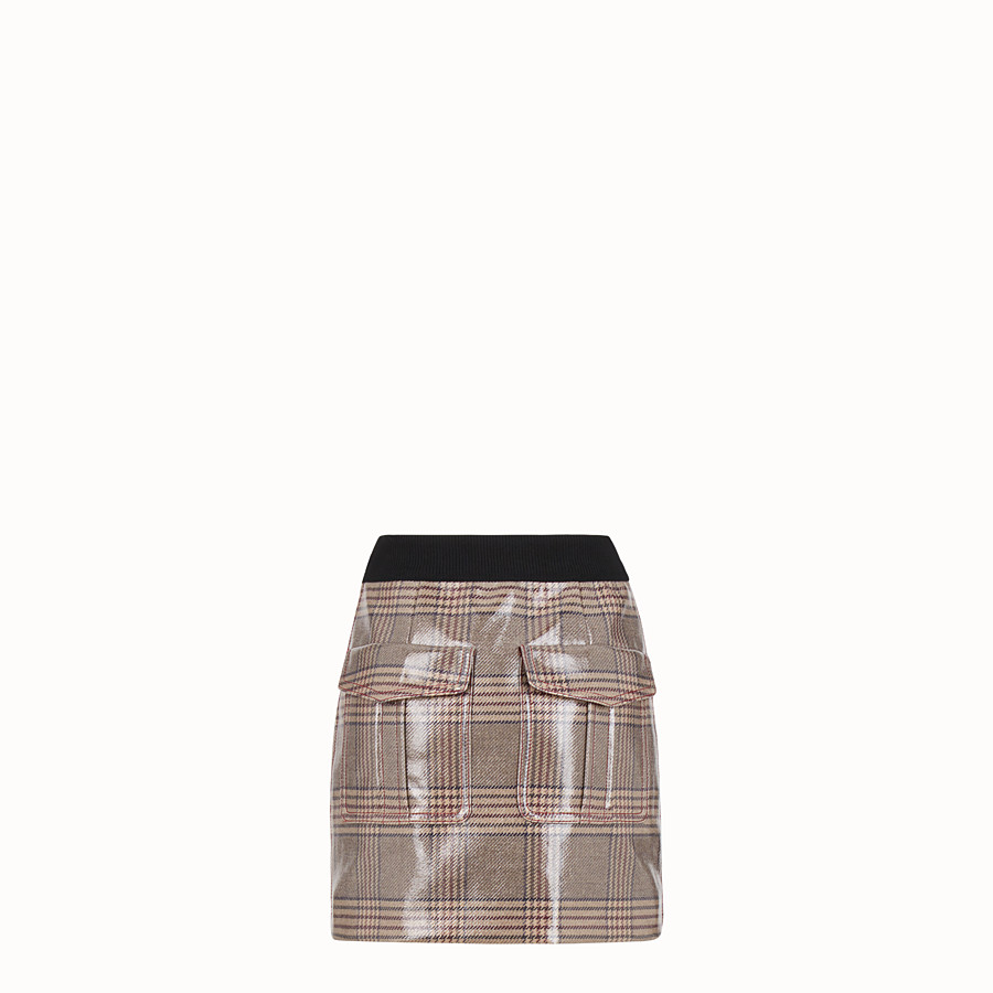 FENDI SKIRT - Prince of Wales wool mini skirt - view 2 detail