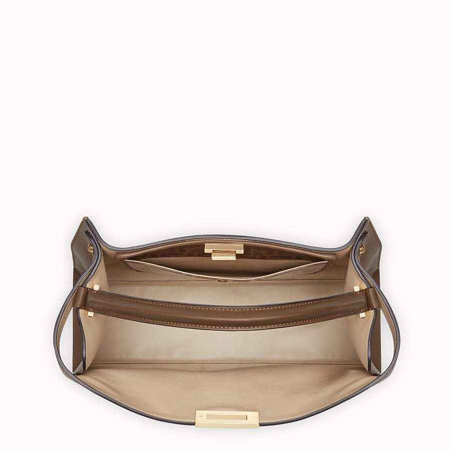 FENDI PEEKABOO X-LITE - Brown leather bag - view 6 detail