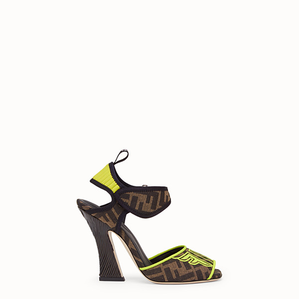 FENDI SANDALS - Fendi Roma Amor fabric sandals - view 1 small thumbnail