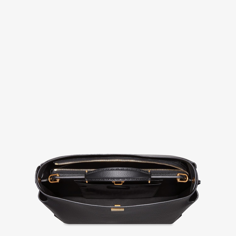FENDI PEEKABOO ICONIC ESSENTIAL - Black leather bag - view 4 detail