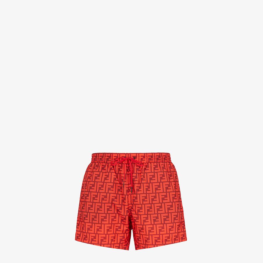 FENDI SWIM SHORTS - Red Lycra® shorts - view 1 detail