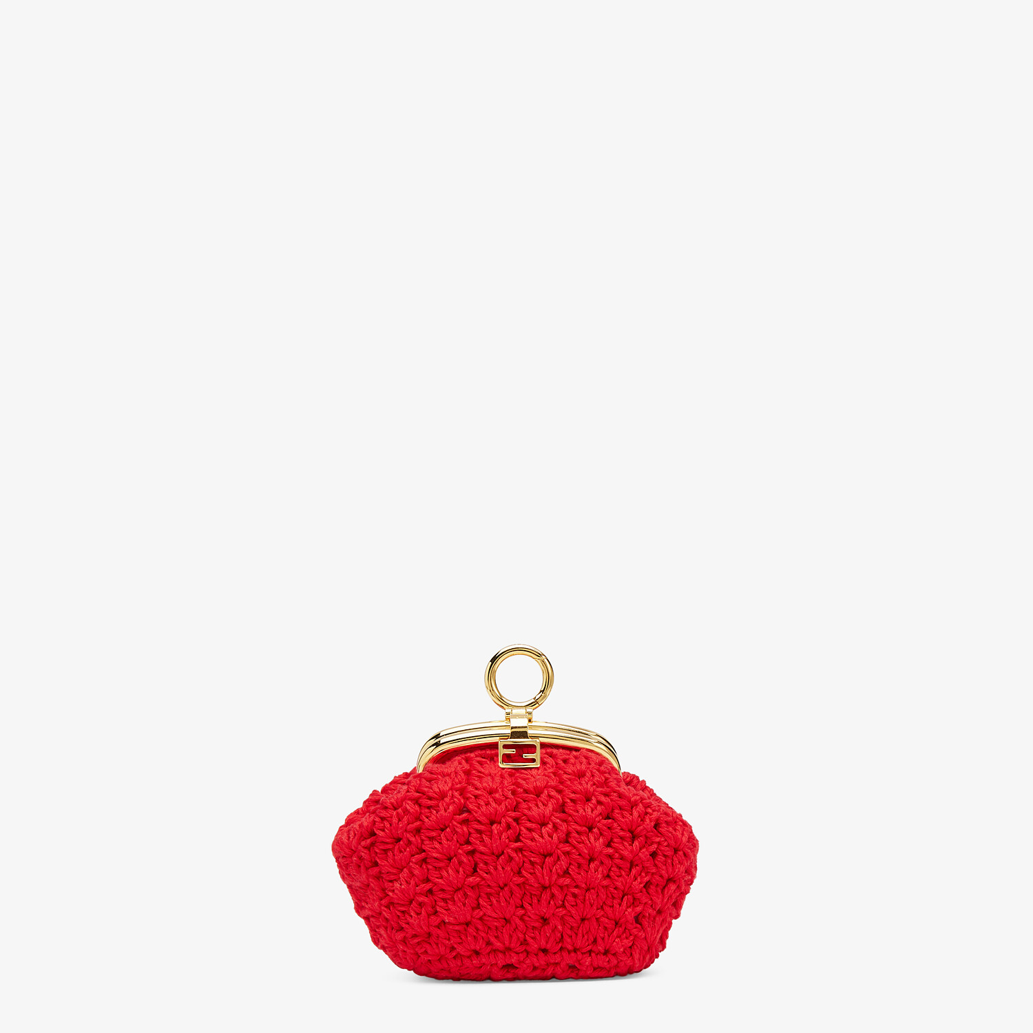 FENDI COIN PURSE - Red lace coin purse - view 1 detail