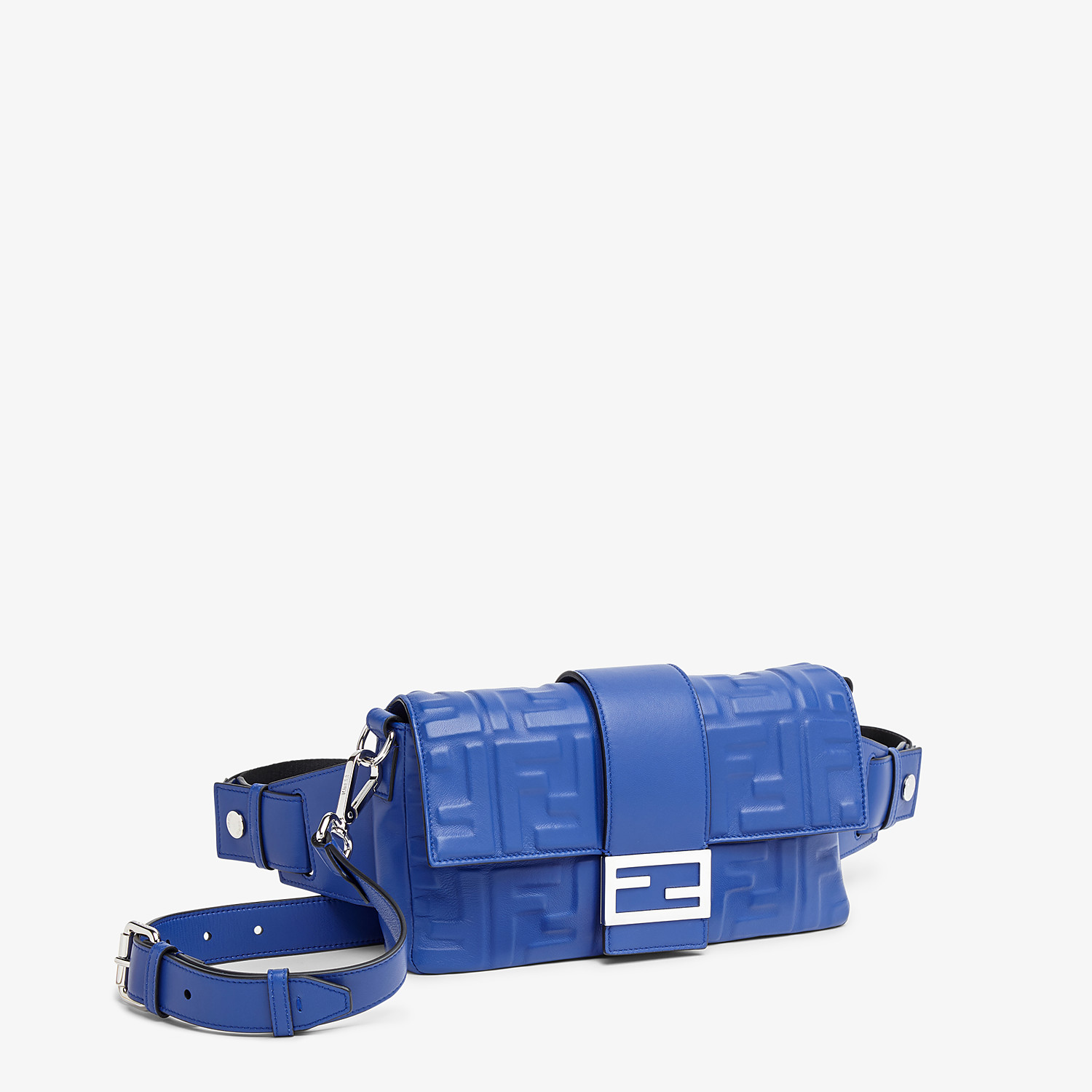 FENDI BAGUETTE - Blue nappa leather bag - view 2 detail