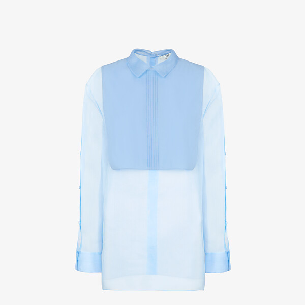 Light blue silk shirt