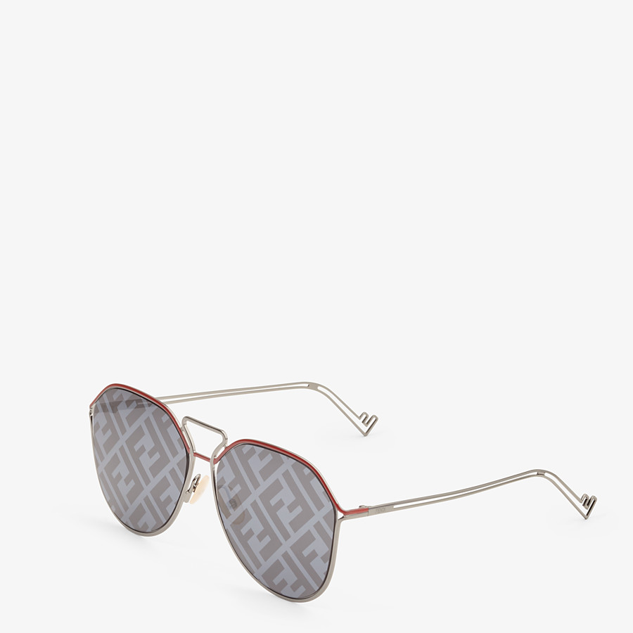 FENDI FENDI GRID - Red and ruthenium sunglasses - view 2 detail
