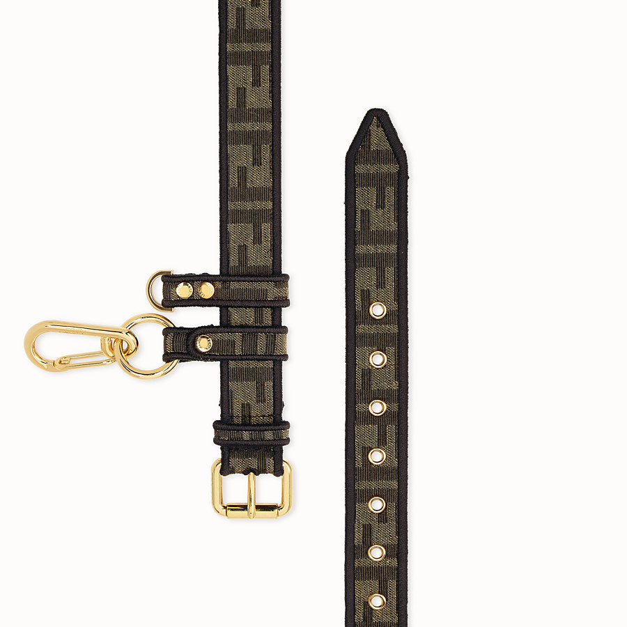 FENDI BELT - Brown fabric belt - view 2 detail