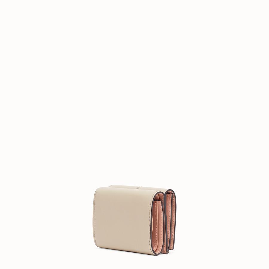 FENDI MICRO TRIFOLD - Portemonnaie aus Leder in Beige - view 2 detail