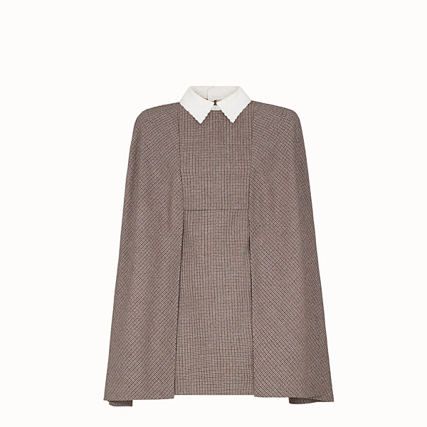 FENDI DRESS - Micro-check wool dress - view 1 small thumbnail