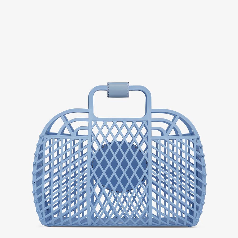 FENDI FENDI BASKET MEDIUM - Light blue recycled plastic mini-bag - view 4 detail