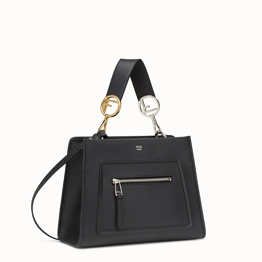 FENDI RUNAWAY SMALL - Black leather bag - view 2 detail