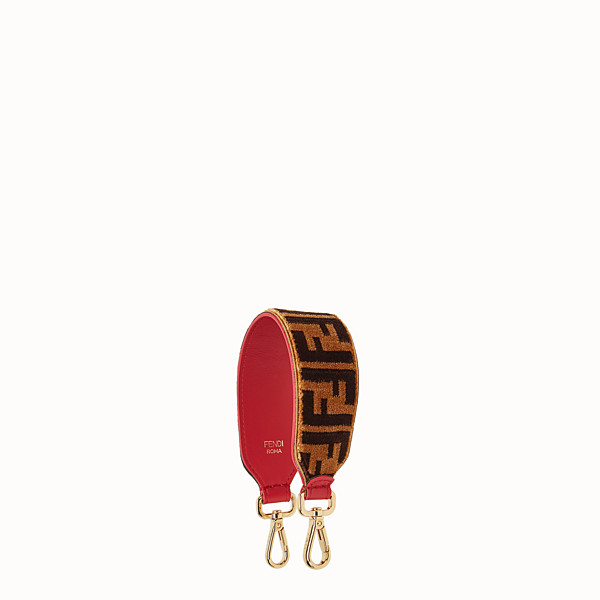 FENDI MINI STRAP YOU - Textured-effect leather shoulder strap - view 1 small thumbnail
