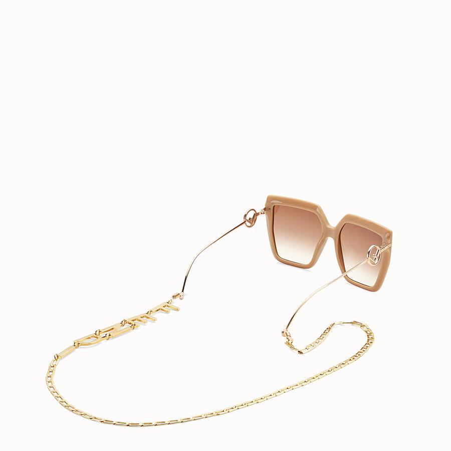 FENDI GLASSES CHAIN - Gold-colour necklace - view 2 detail