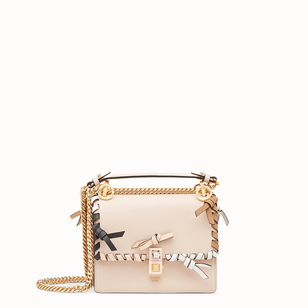 FENDI KAN I SMALL - Minisac en cuir rose - view 1 small thumbnail