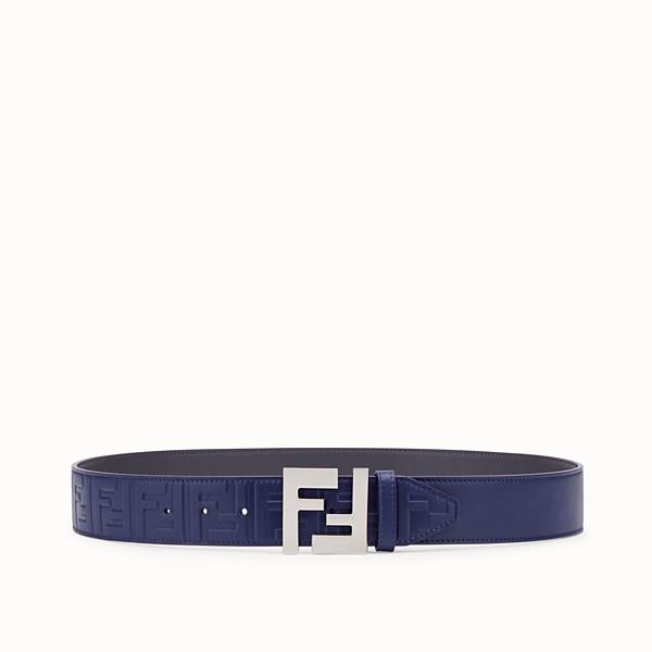 FENDI BELT - Blue leather belt - view 1 small thumbnail