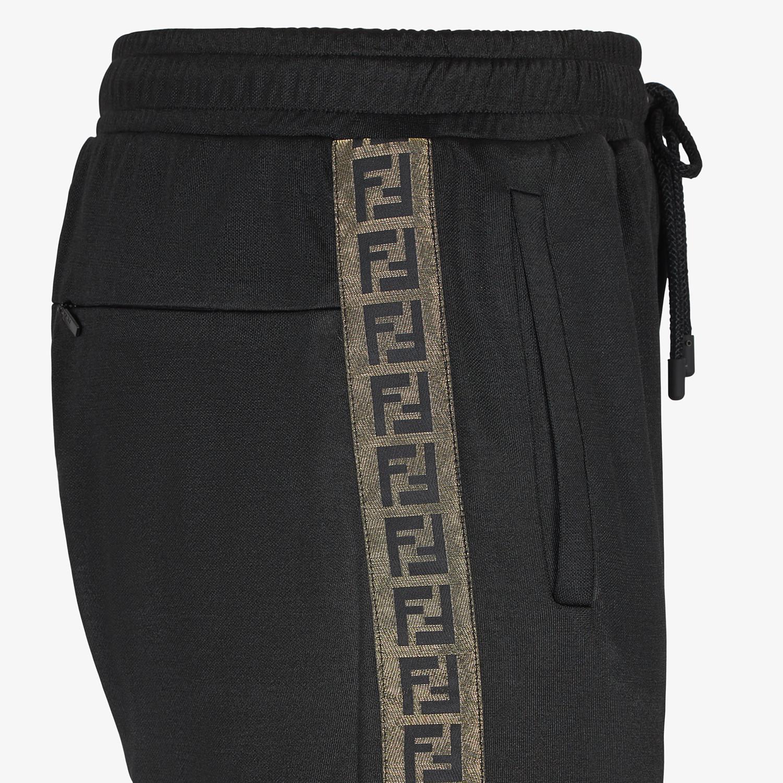 FENDI PANTALONE - Pantalone in tessuto nero - vista 3 dettaglio