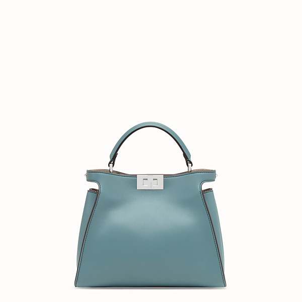 FENDI PEEKABOO ICONIC ESSENTIALLY - Pale blue leather bag - view 1 small thumbnail