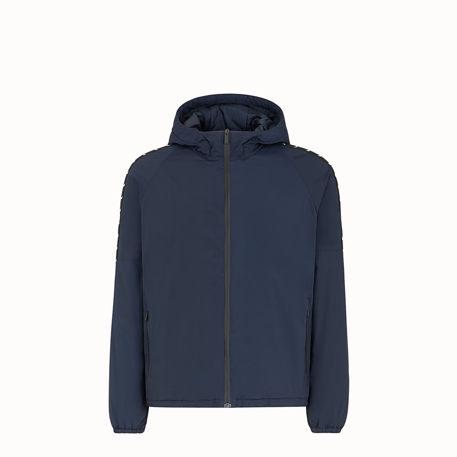 FENDI 束腰短外套 - 藍色高科技布料防風外套 - view 1 detail