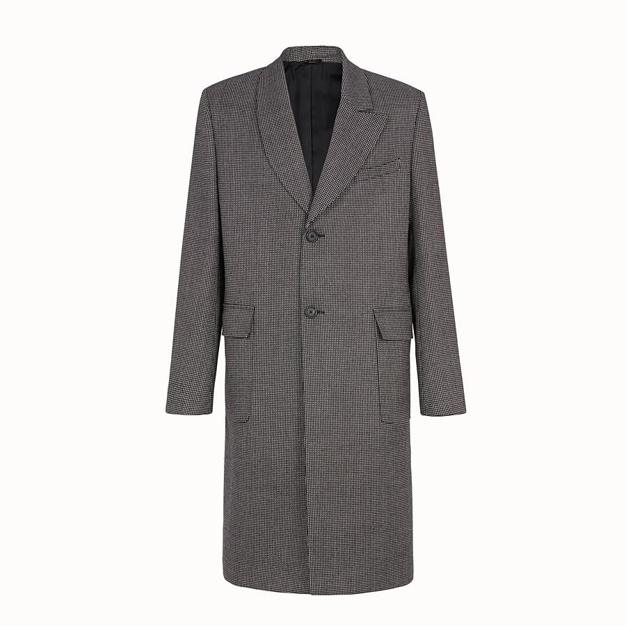 FENDI COAT - Multicolour fabric coat - view 1 detail