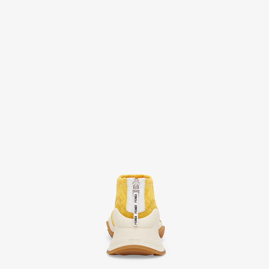 FENDI SNEAKERS - High-tech yellow jacquard sneakers - view 3 detail