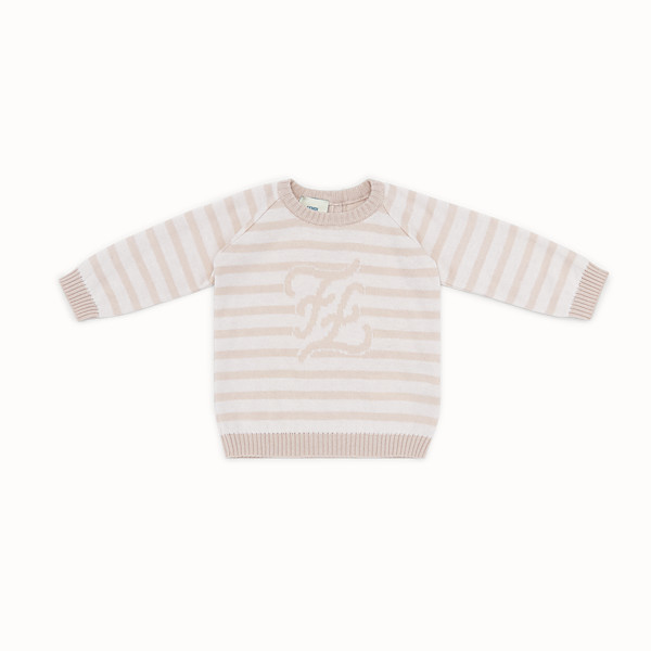 FENDI KNITTED BABY sweater - Knitted baby sweater with inlay - view 1 small thumbnail