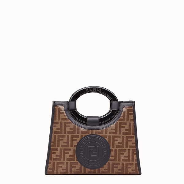 FENDI SAC SHOPPING RUNAWAY - Sac shopping en tissu marron - view 1 small thumbnail