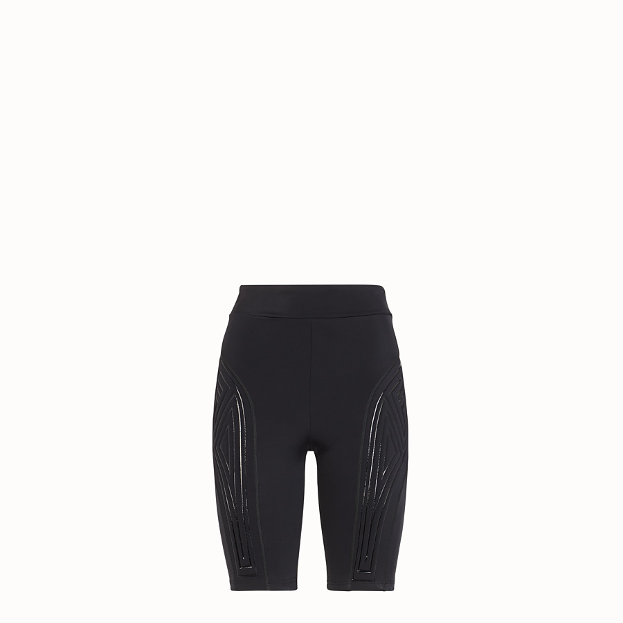 FENDI CYCLIST BERMUDAS - Black Lycra shorts - view 1 detail