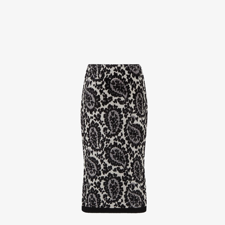 FENDI SKIRT - Gray knit skirt - view 2 detail