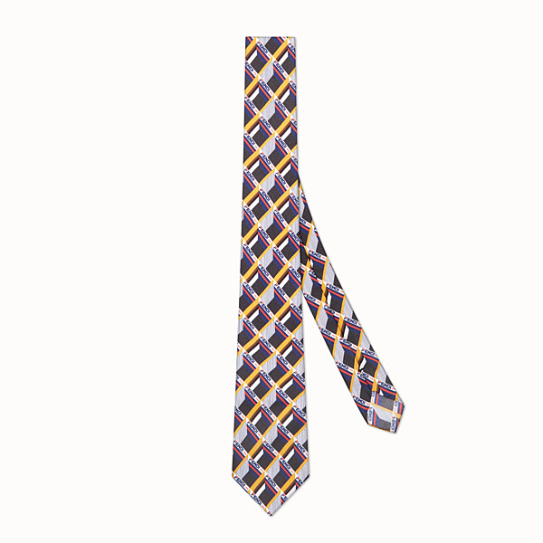 FENDI TIE - Multicolour silk tie - view 1 small thumbnail