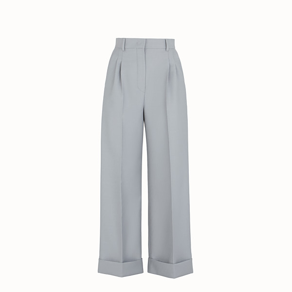 FENDI TROUSERS - Grey wool trousers - view 1 small thumbnail