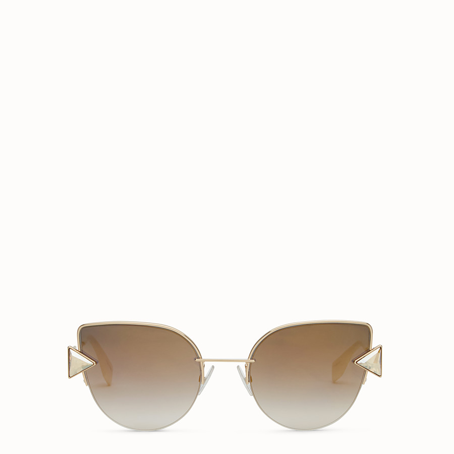 FENDI RAINBOW - Gold sunglasses. - view 1 detail