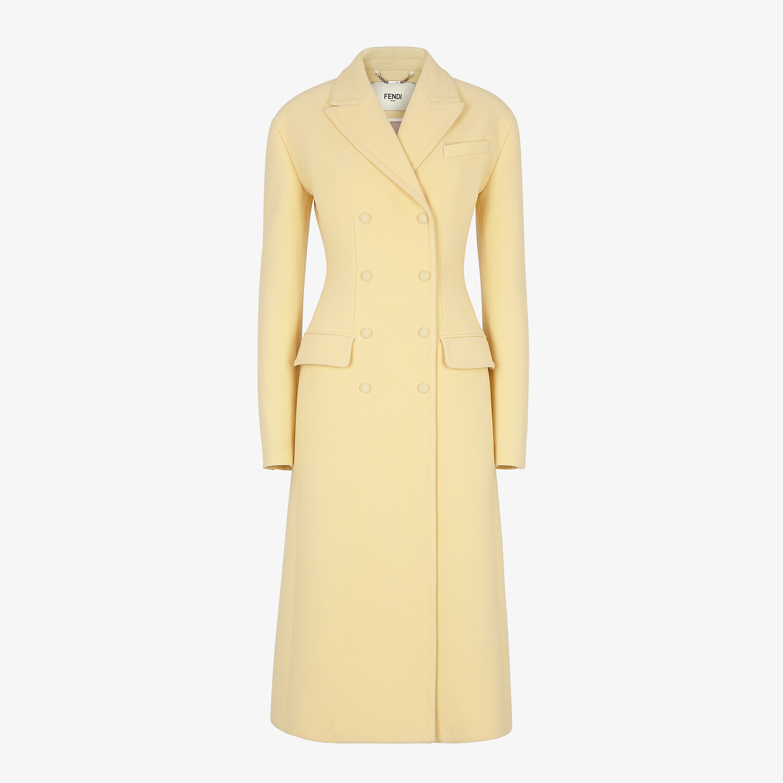 FENDI COAT - Yellow wool coat - view 1 detail