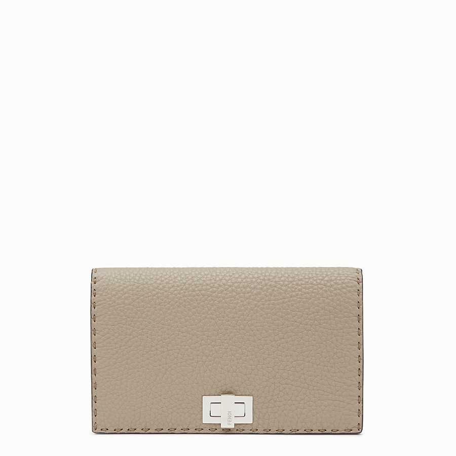 FENDI WALLET - Selleria cord-coloured wallet on chain - view 1 detail