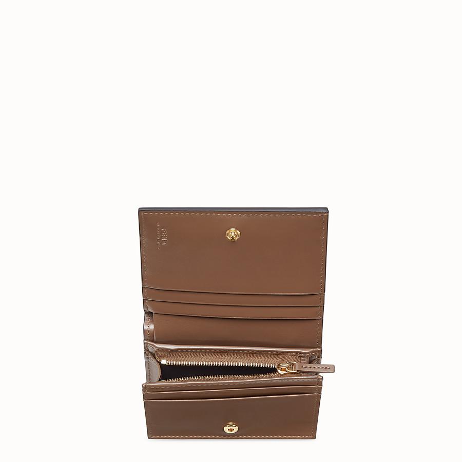 FENDI KLEINES PORTEMONNAIE - Portemonnaie aus Leder in Braun - view 3 detail