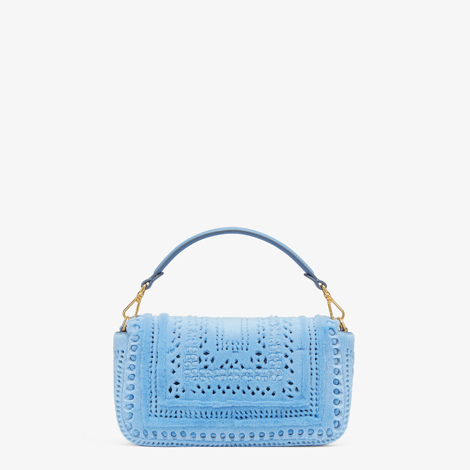 FENDI BAGUETTE - Blue mink bag - view 3 detail