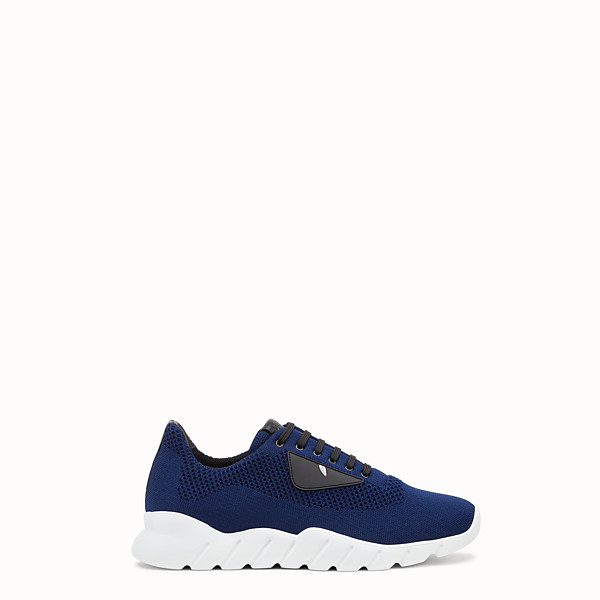 FENDI SNEAKERS - Blue fabric running shoes - view 1 small thumbnail