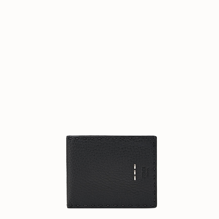 FENDI WALLET - Selleria bi-fold wallet in black leather - view 1 detail