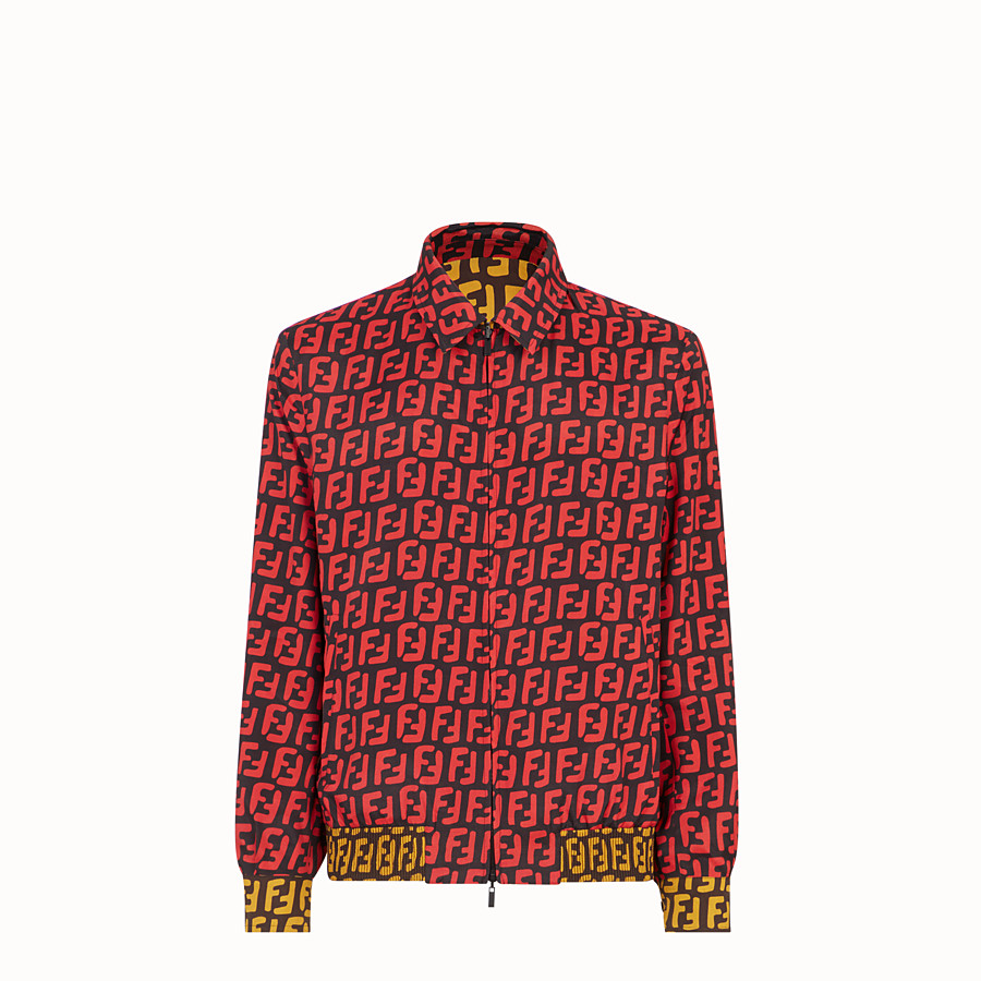 FENDI BLOUSON JACKET - Multicolour silk and fabric jacket - view 4 detail