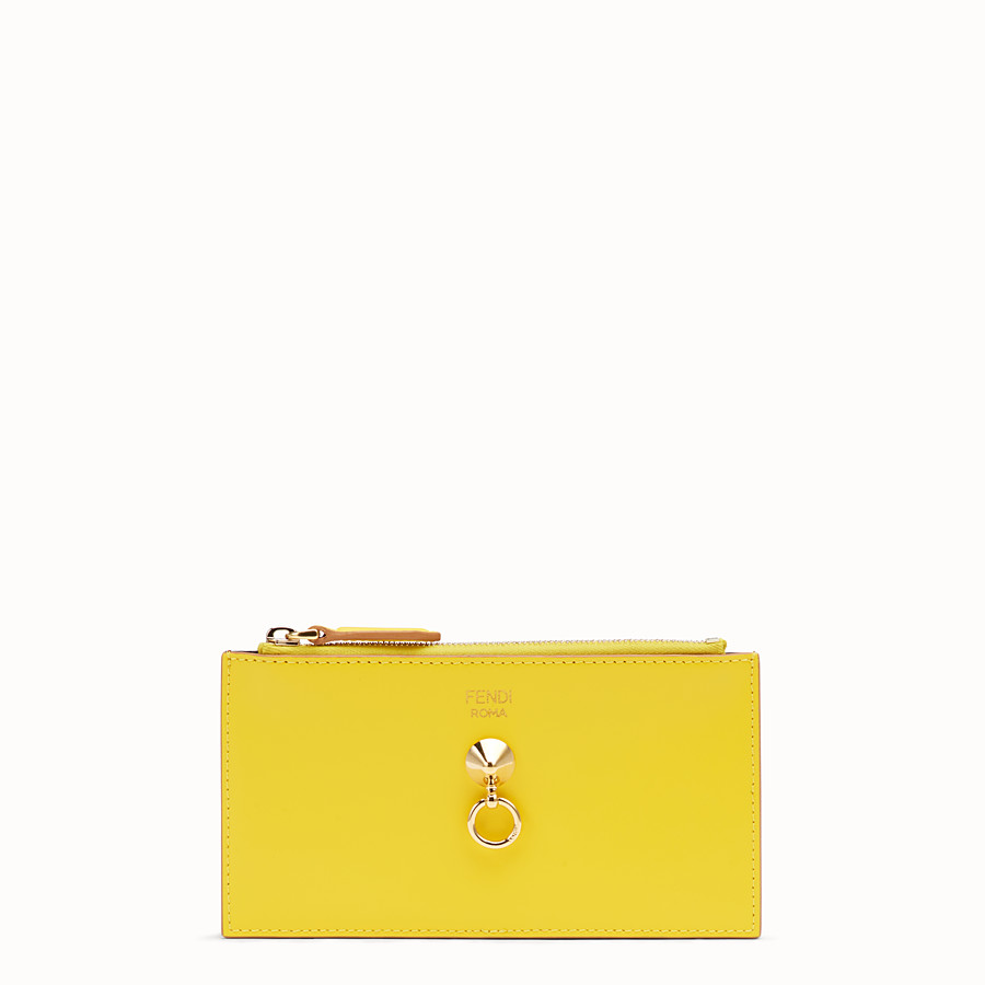 FENDI CARD POUCH - Multicolour leather pouch - view 1 detail