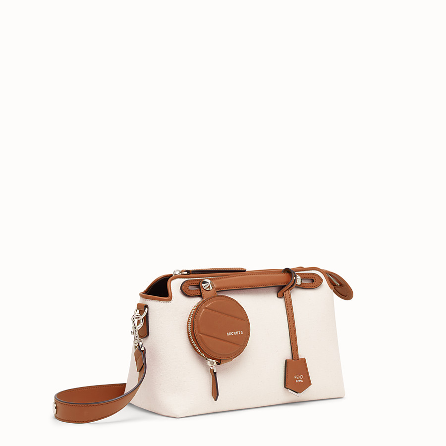 FENDI BY THE WAY REGULAR - Bolso Boston de lona beige - view 2 detail