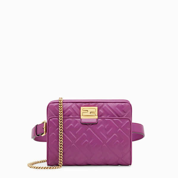 FENDI UPSIDE DOWN - Purple leather bag - view 1 small thumbnail