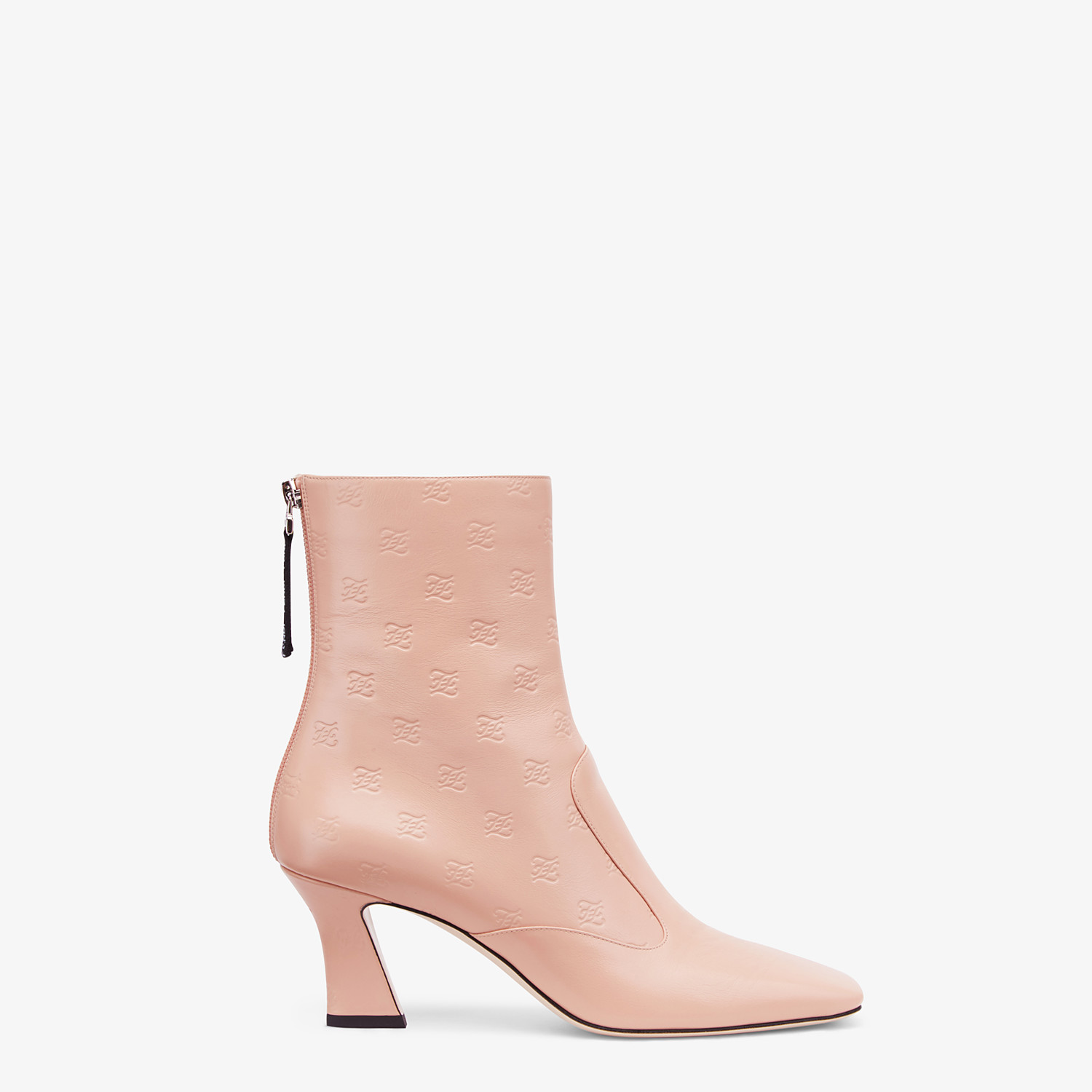 FENDI BOOTS - Booties in pink leather - view 1 detail