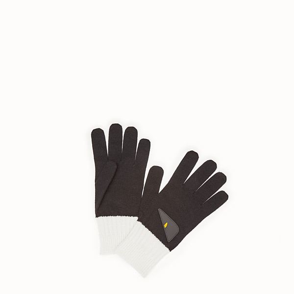 FENDI GLOVES - Black wool gloves - view 1 small thumbnail