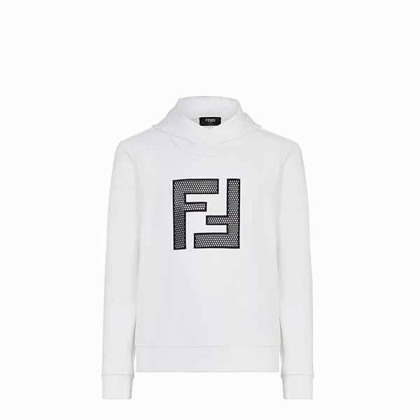 FENDI SWEATSHIRT - White cotton sweatshirt - view 1 small thumbnail