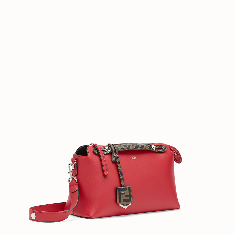 FENDI BY THE WAY REGULAR - Red leather Boston bag - view 2 detail