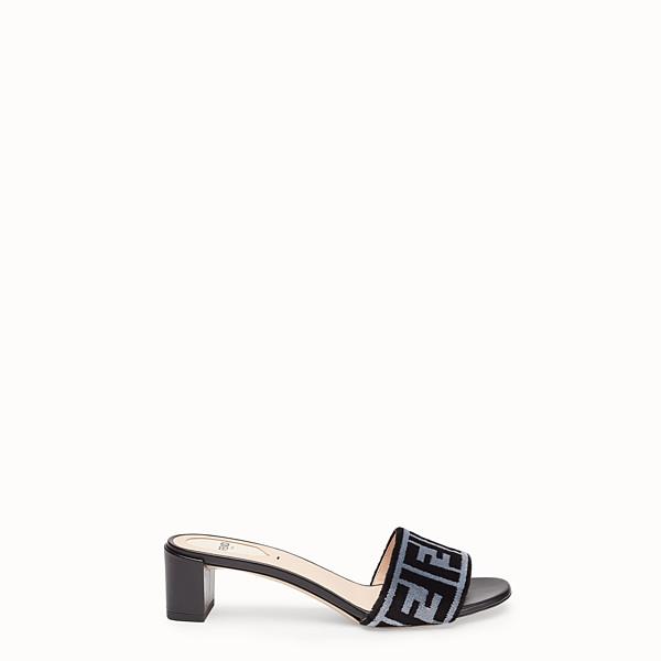 FENDI SLIDES - Multicolour fabric sandals - view 1 small thumbnail