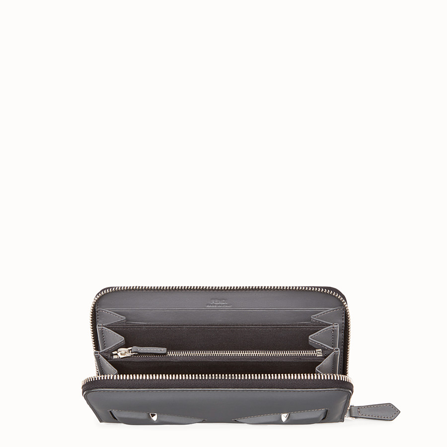 FENDI WALLET - Grey leather wallet - view 3 detail